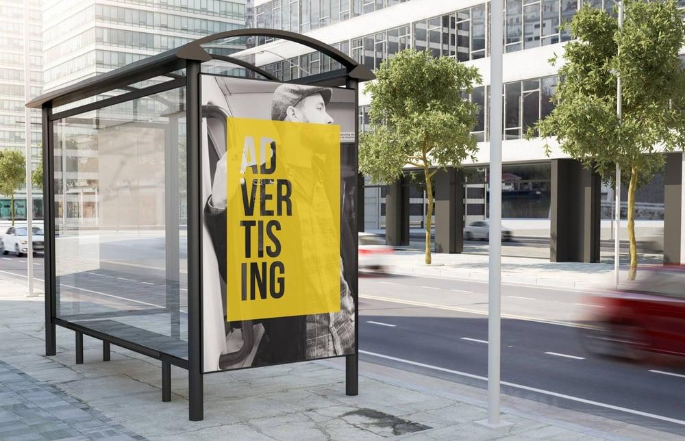 abri de bus publicité