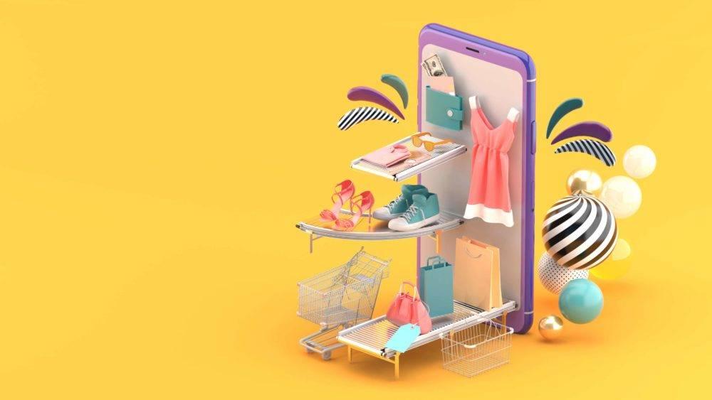 Illustration du concept de e-commerce