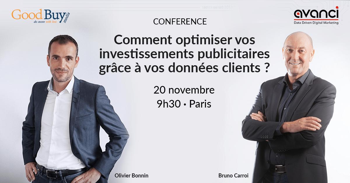 [Conférence] Apprenez à optimiser vos investissements publicitaires grâce à la data le 20 novembre à Paris
